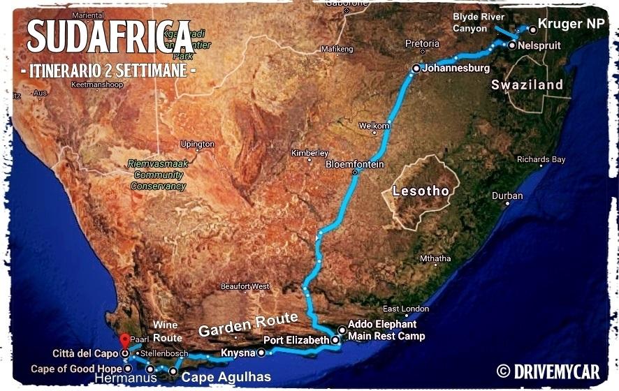 Itinerario in sudafrica drive my car for Sud africa immagini